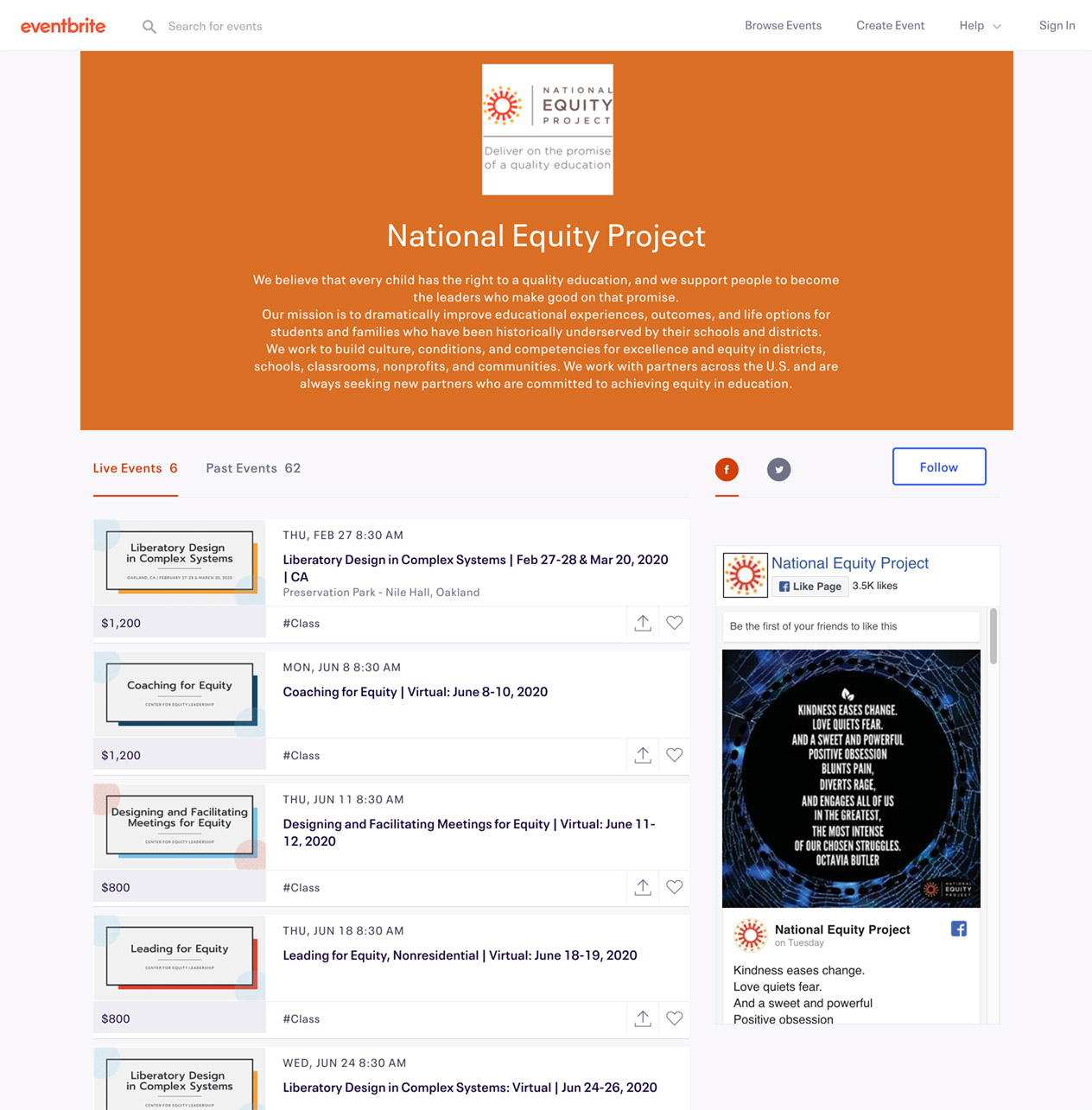 National Equity Project Trainings