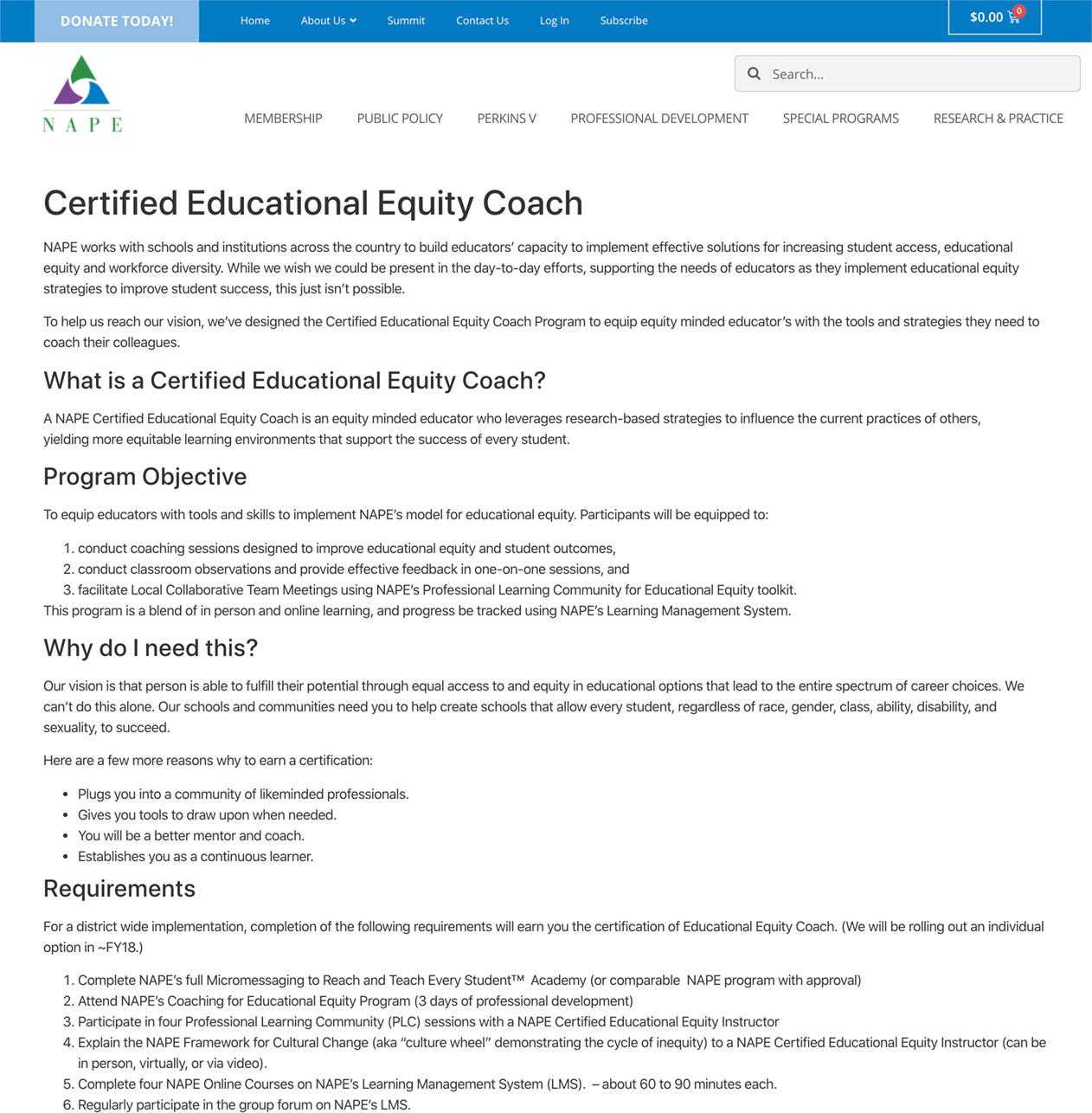 Certified Educational Equity Coach