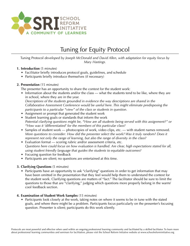 Tuning for Equity Protocol