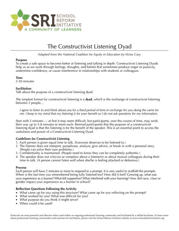 Constructivist Listening Dyad