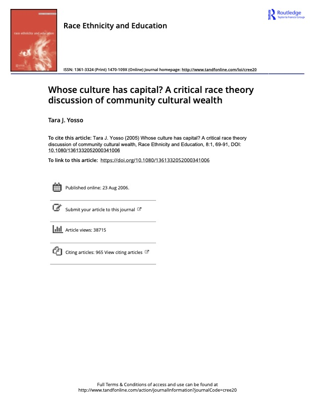 Whose Culture Has Capital?