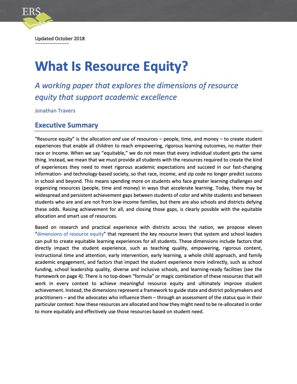 What is Resource Equity