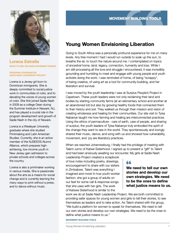 Tool to Engage Youth in Conversations about Liberation