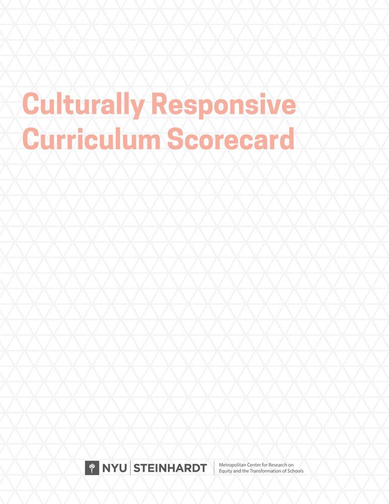 Culturally Responsive Curriculum Scorecard