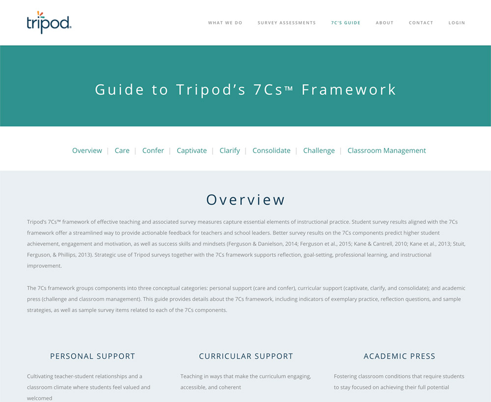 Guide to Tripod's 7Cs Framework