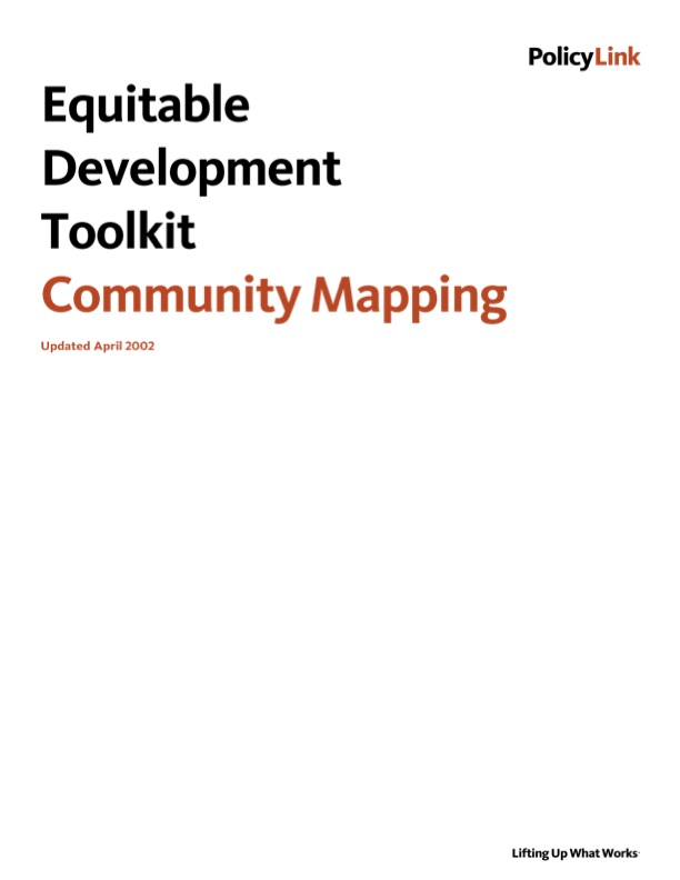 Equitable Development Toolkit - Community Mapping