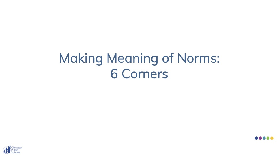 Making Meaning of Norms: 6 Corners
