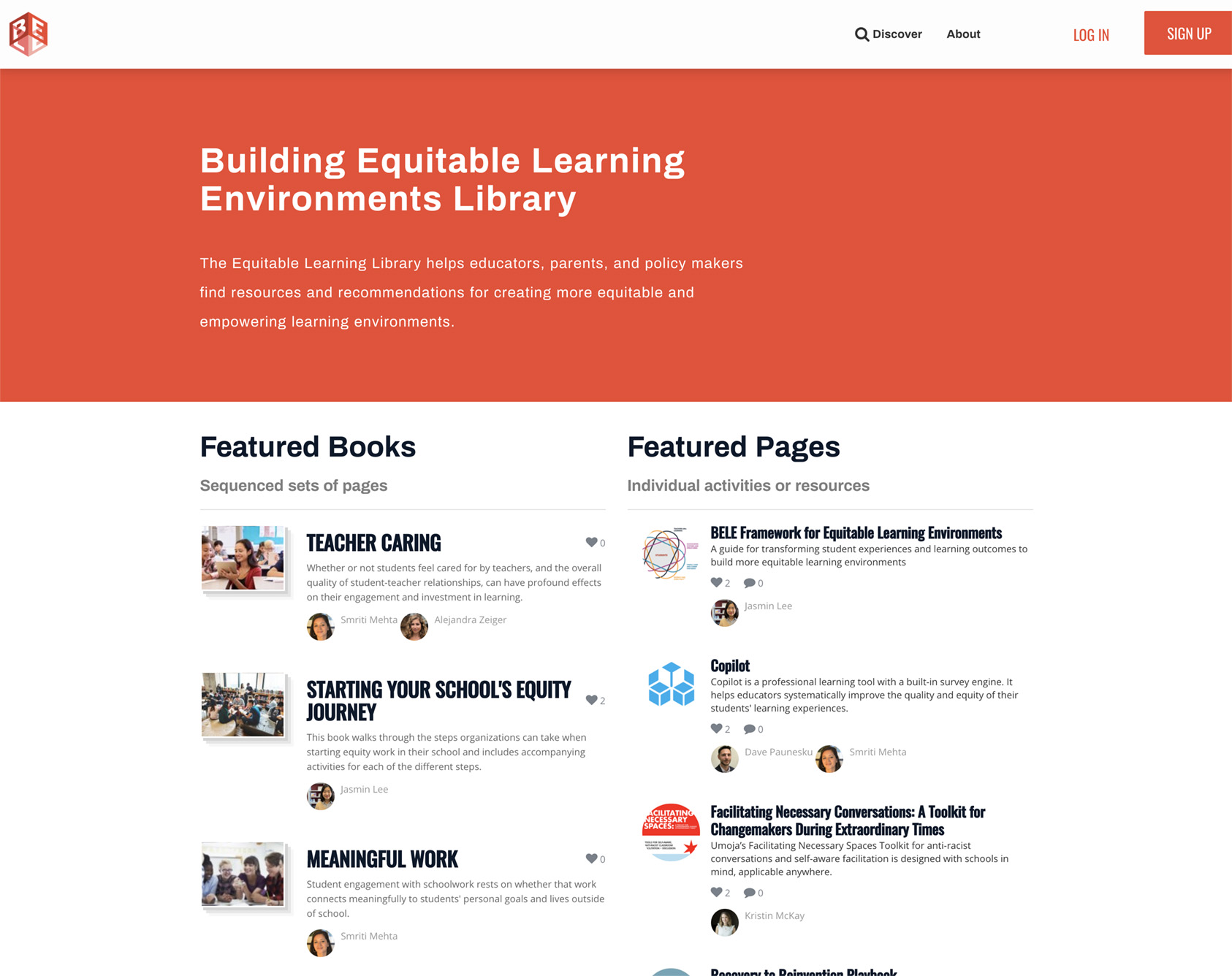 BELE - Building Equitable Learning Environments Library