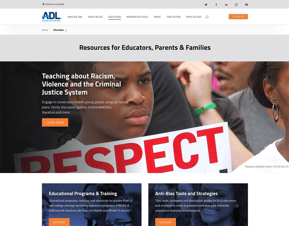 ADL Resources for Educators, Parents & Families