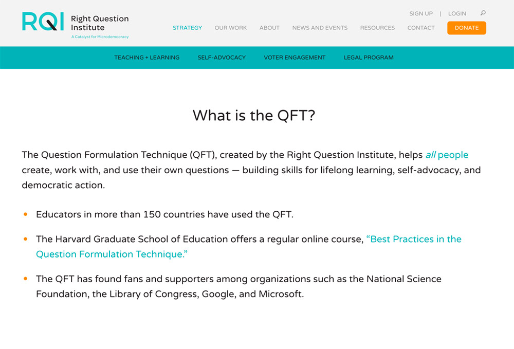 What is the QFT?
