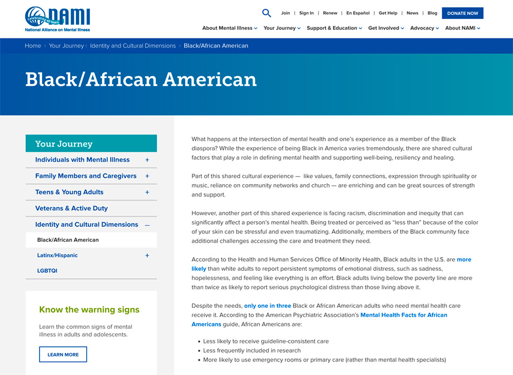 Your Journey: Black/African American