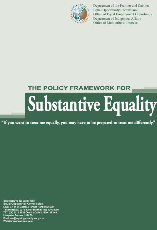 The Policy Framework for Substantive Equality