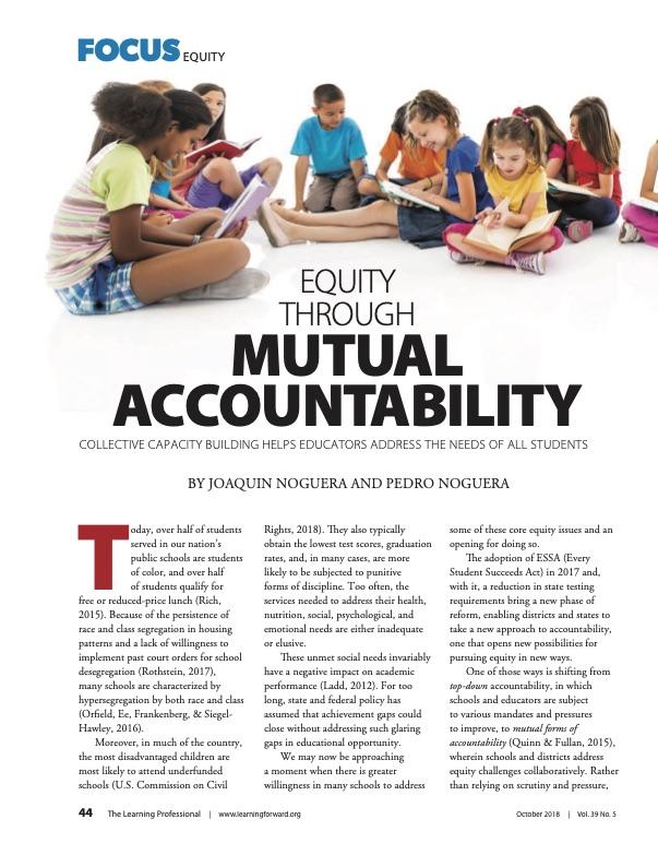 Equity Through Mutual Accountability