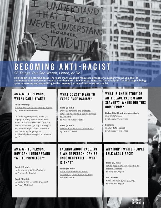 Toolkit: Becoming Anti-Racist