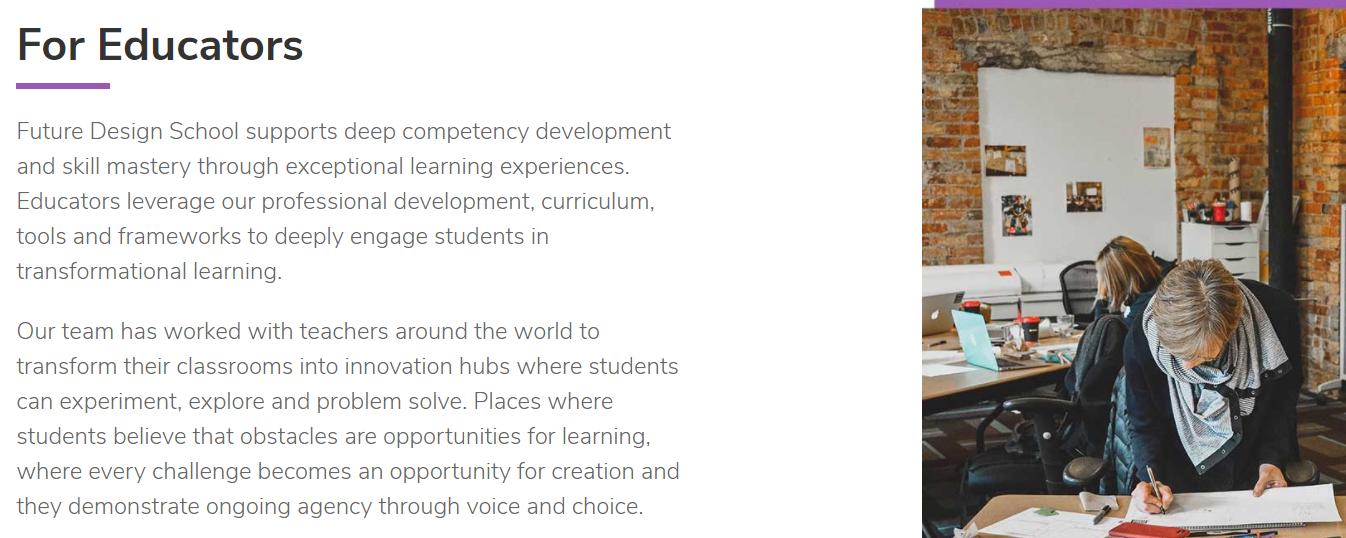 For Educators- Future Design School