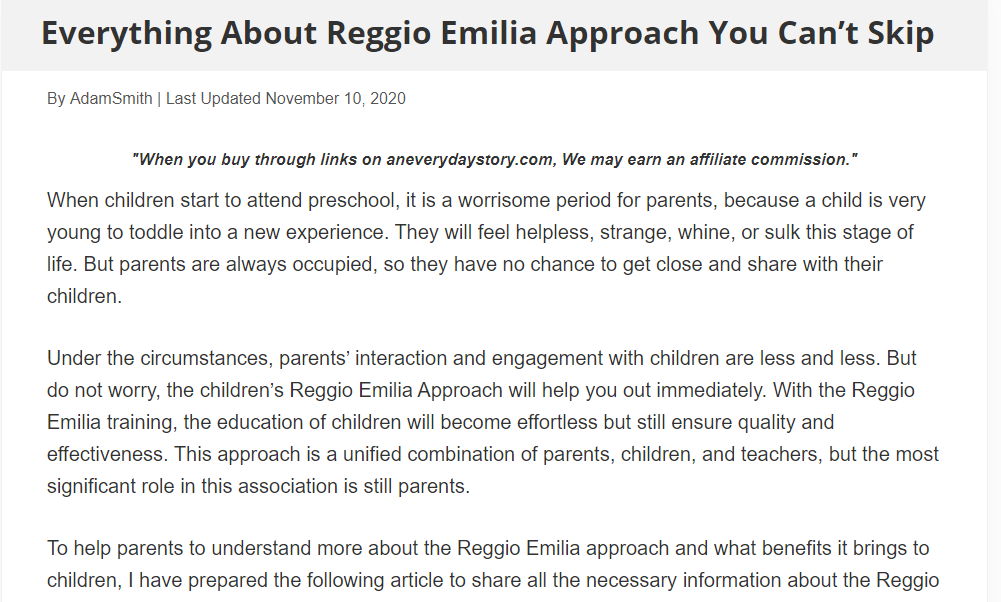Everything About Reggio Emilia Approach You Can't Skip