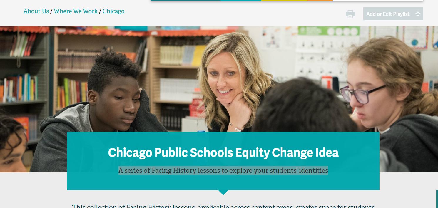 Chicago Public Schools Equity Change Idea