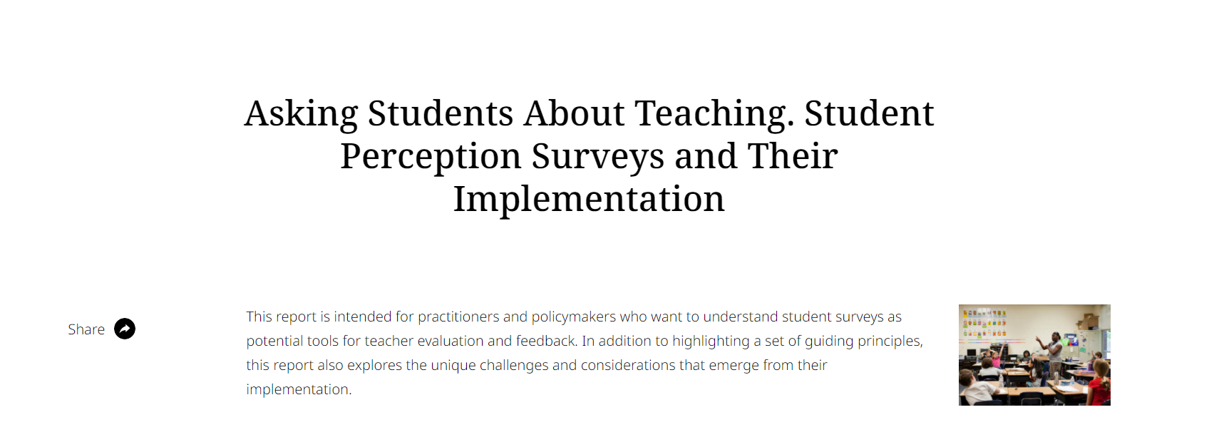 Asking Students About Teaching
