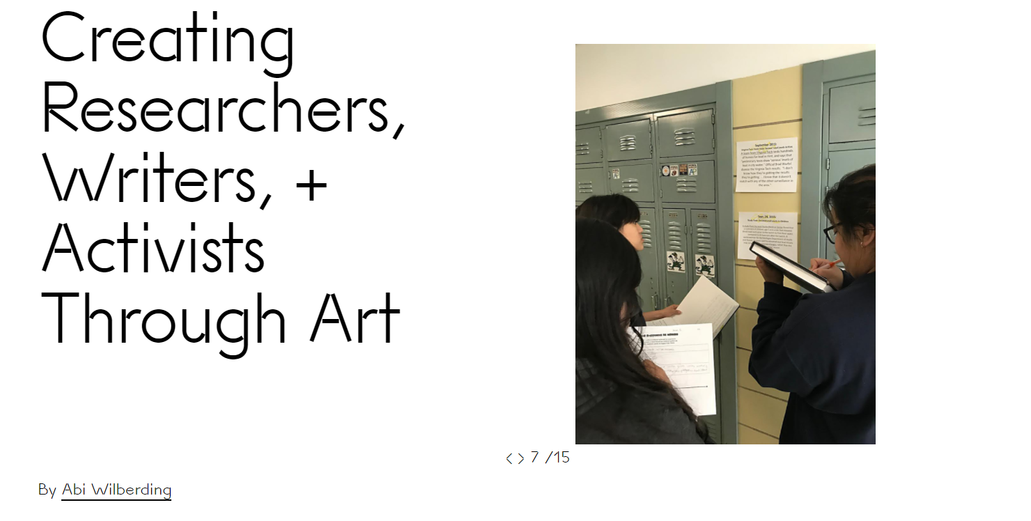 Creating Researchers, Writers, + Activists Through Art