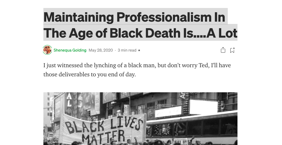 Maintaining Professionalism In The Age of Black Death Is….A Lot