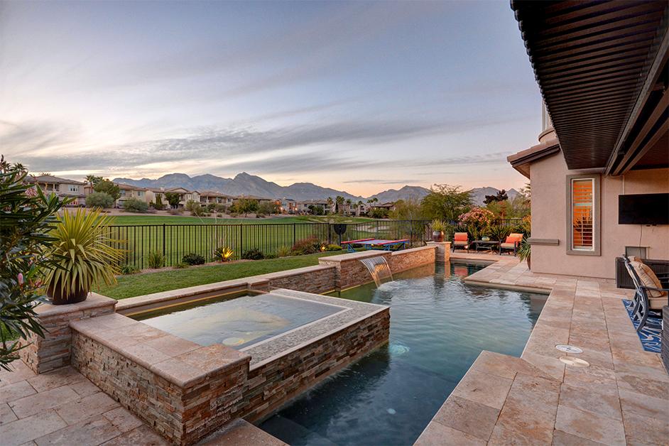 las vegas luxury home exterior outdoor pool