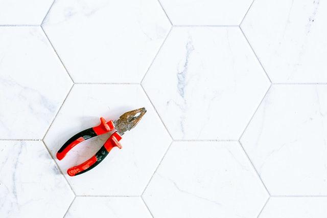 tool on tile flooring