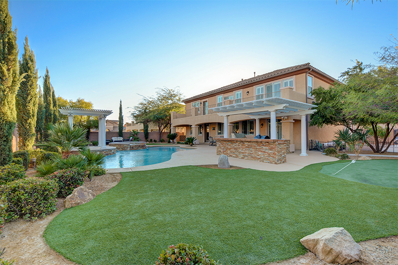 luxury home upgrade at Las Vegas home backyard
