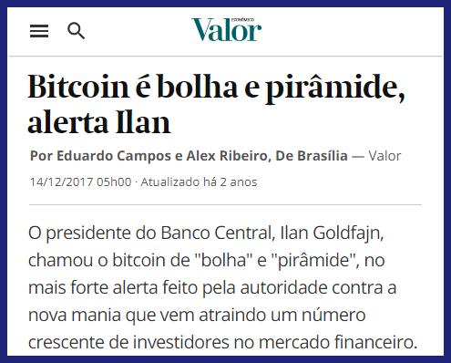 Reportagem Valor Econômico Bitcoin