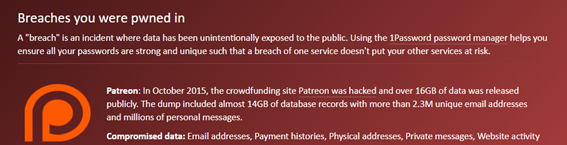 """Have I Been Pwned?"""""""