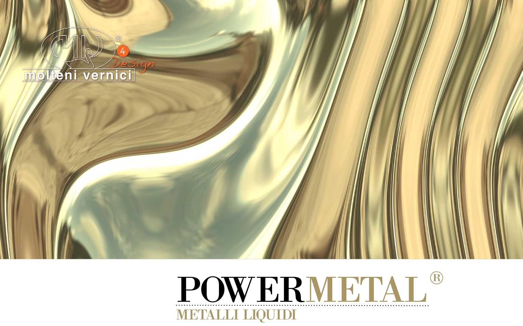 varnish effect polished liquid metal