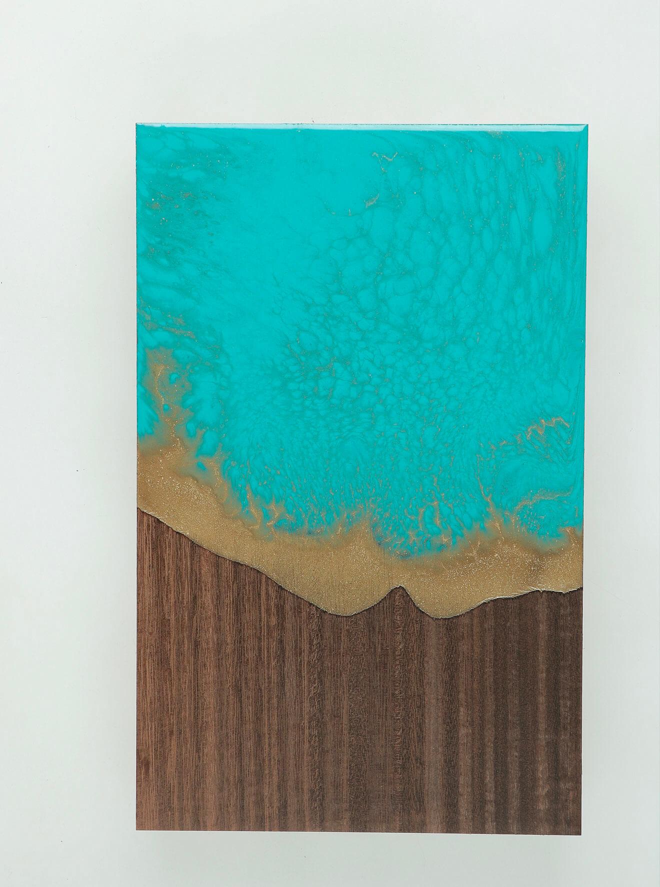 WUNDAA™ Turchese Malachite su legno