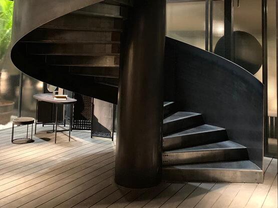 Materico Ferro Calamina on stairs