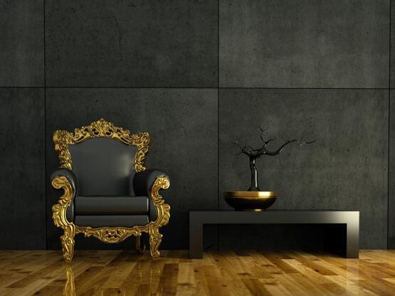 Smalto Luxury Oro ad Acqua, Interior Living.
