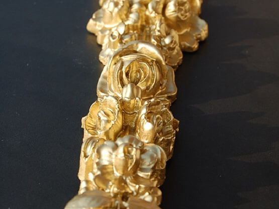 Smalto Luxury Oro ad Acqua, Dettaglio.