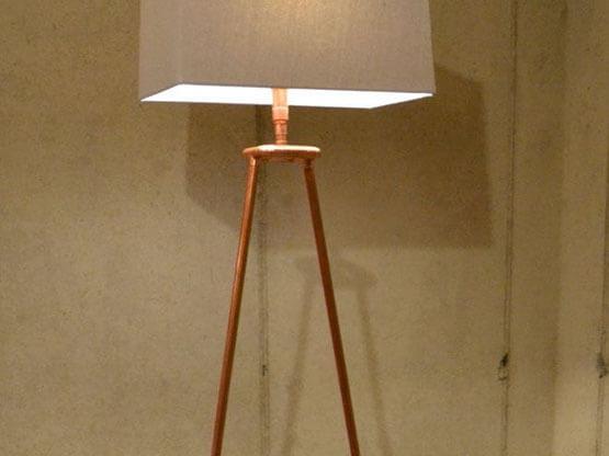 Smalto Luxury Rame, Applicazione su Lampada.