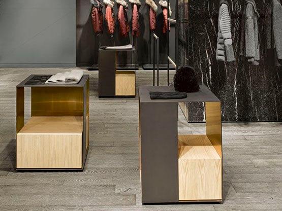 Effetto Ottone Bronzato, Shop Fitting.