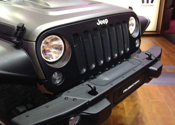 Smalto Porcellana Nero, Dettaglio Jeep Wrangler.