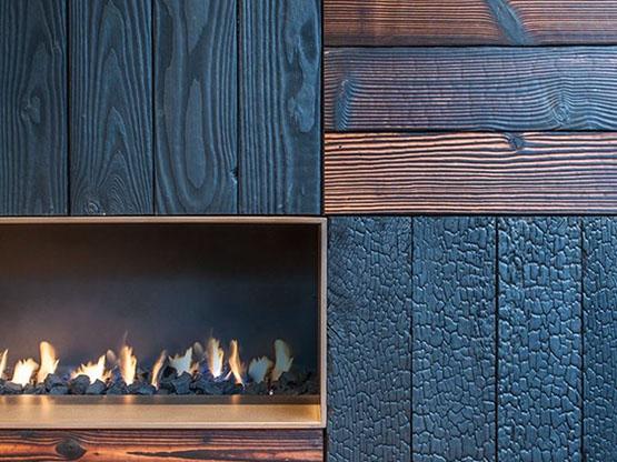 Legno Carbonizzato Organico™, Interior Design.