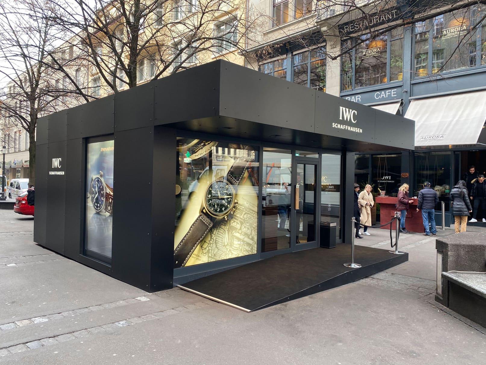 Pop Up Store für IWC Schaffhausen
