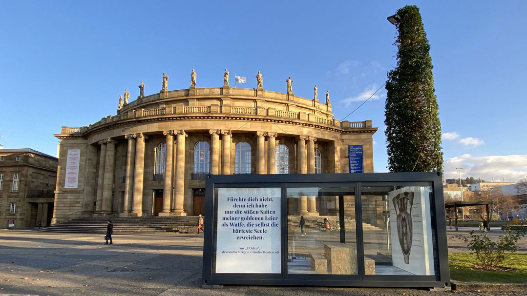 Ausstellungscontainer für Die Staatstheater Stuttgart