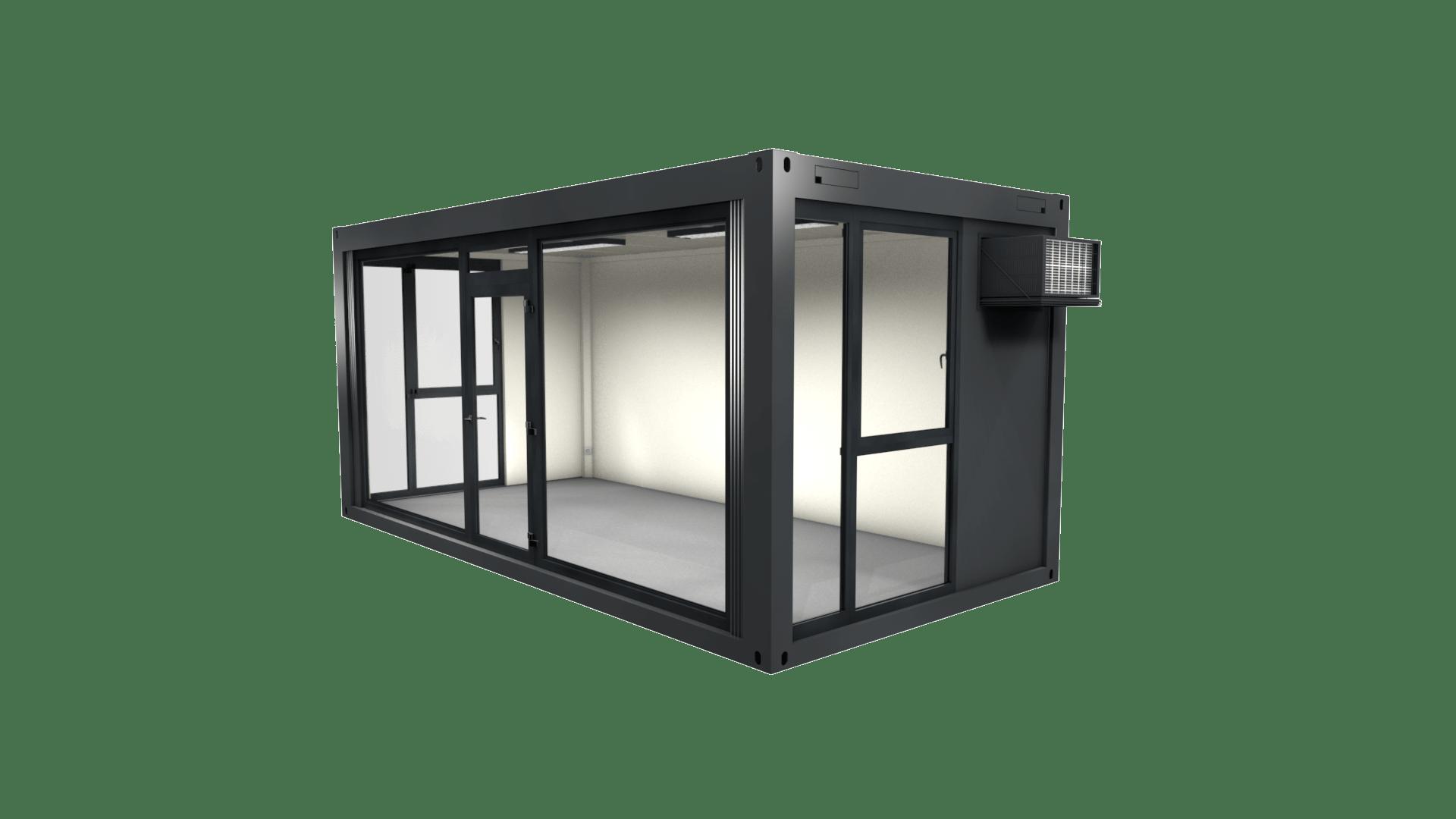 Container Modul 1 mit Panorama Verglasung