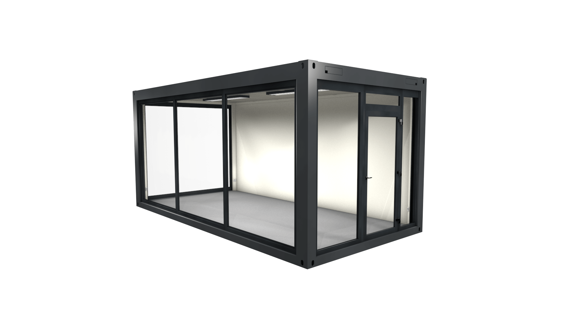Container Modul 3 mit Panorama Fenster