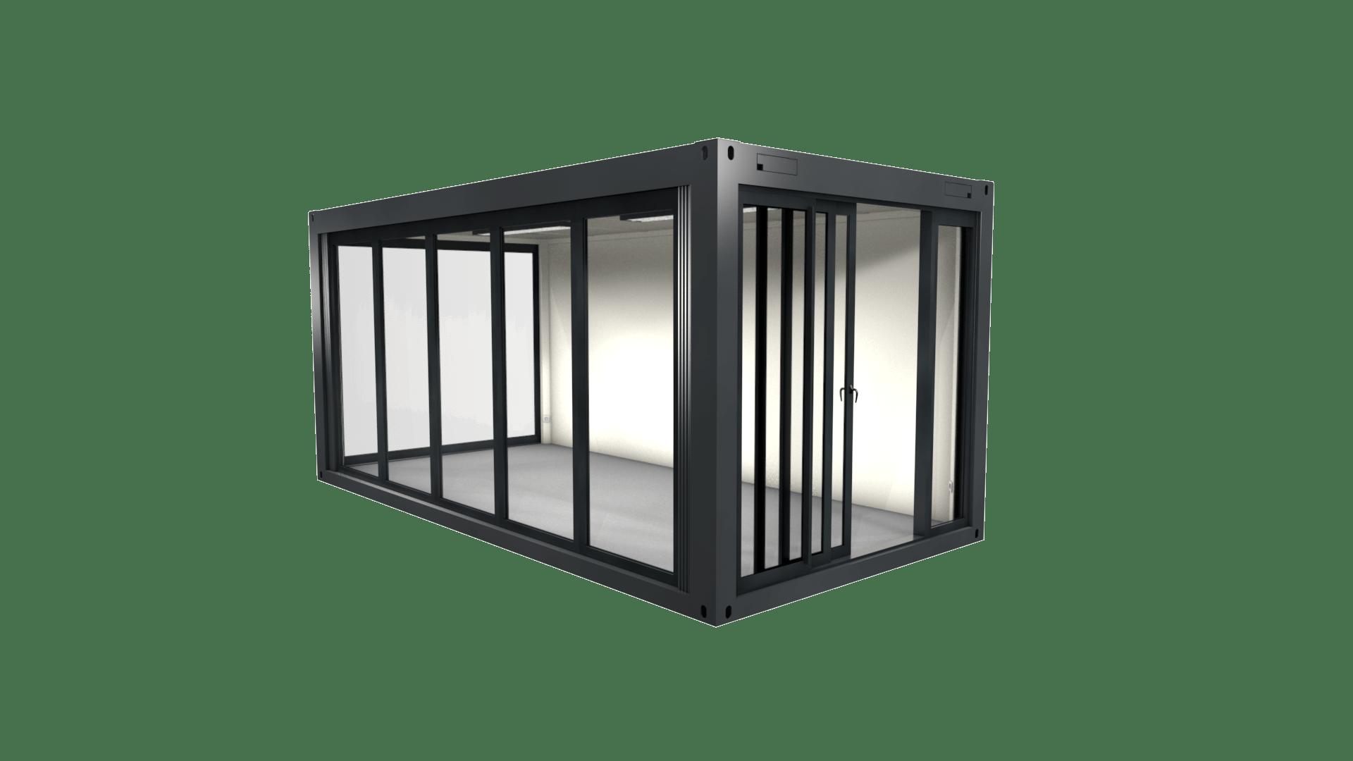 Container Modul 4 mit Glasfront und Panorama Fenster