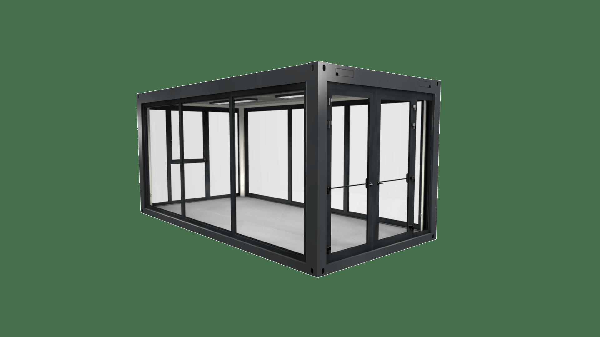Container Modul 7 mit Panoramafenster und Verglasung