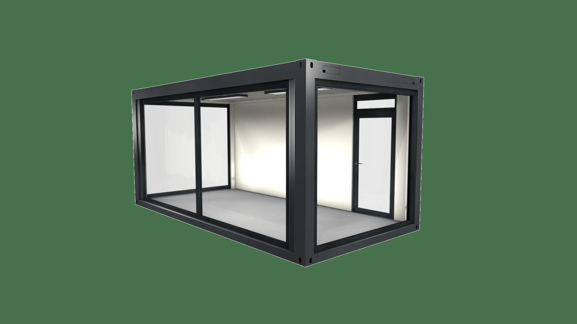 Container Modul 9 mit Panorama Verglasung