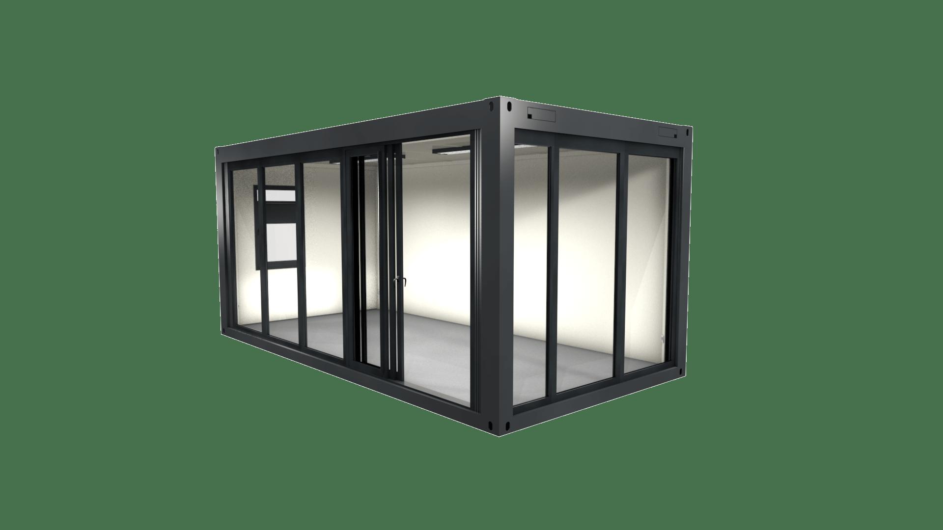 Container Modul 10 mit Verglasung und Fenster