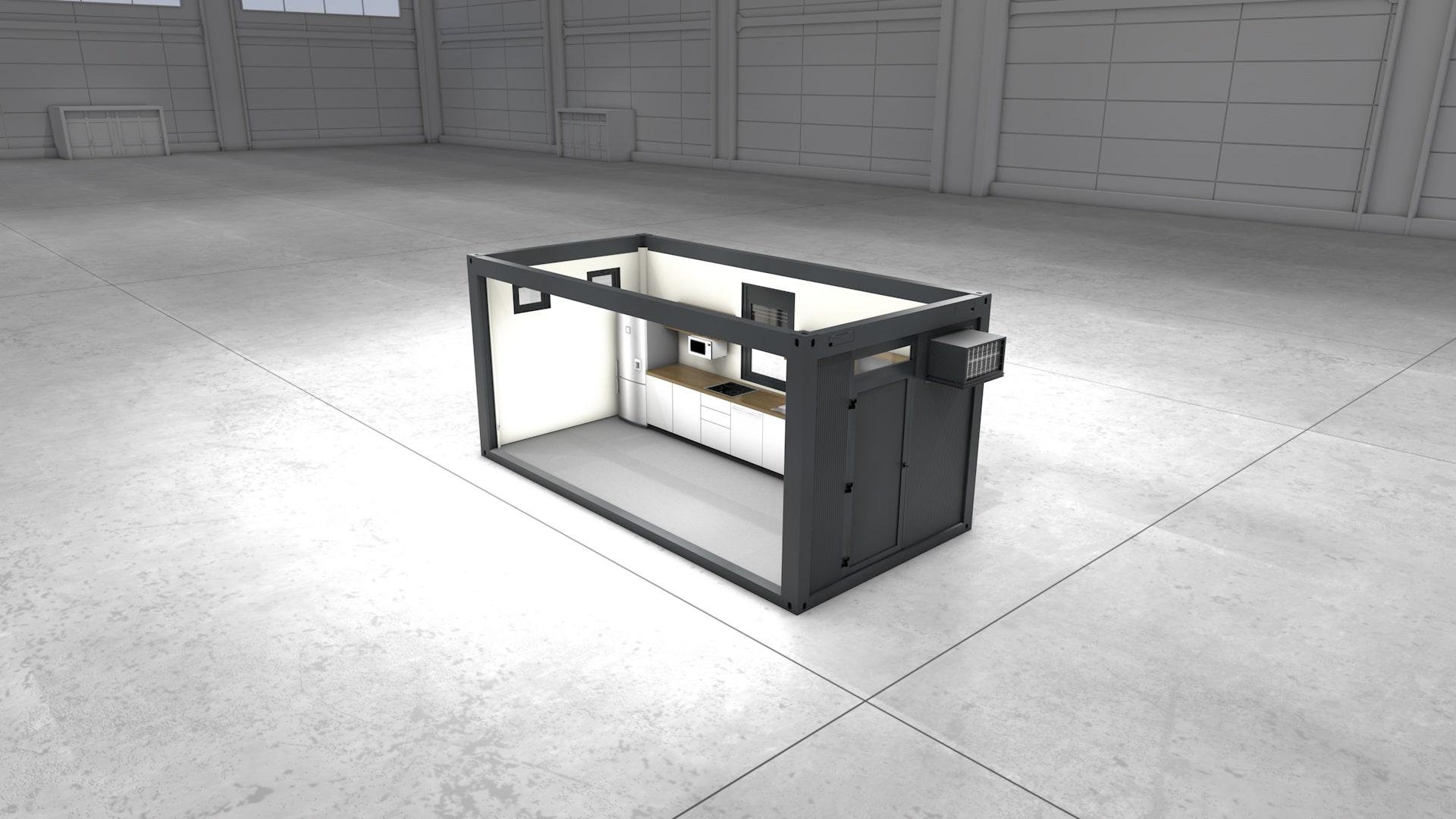 Container Modul 16 - Ansicht 1
