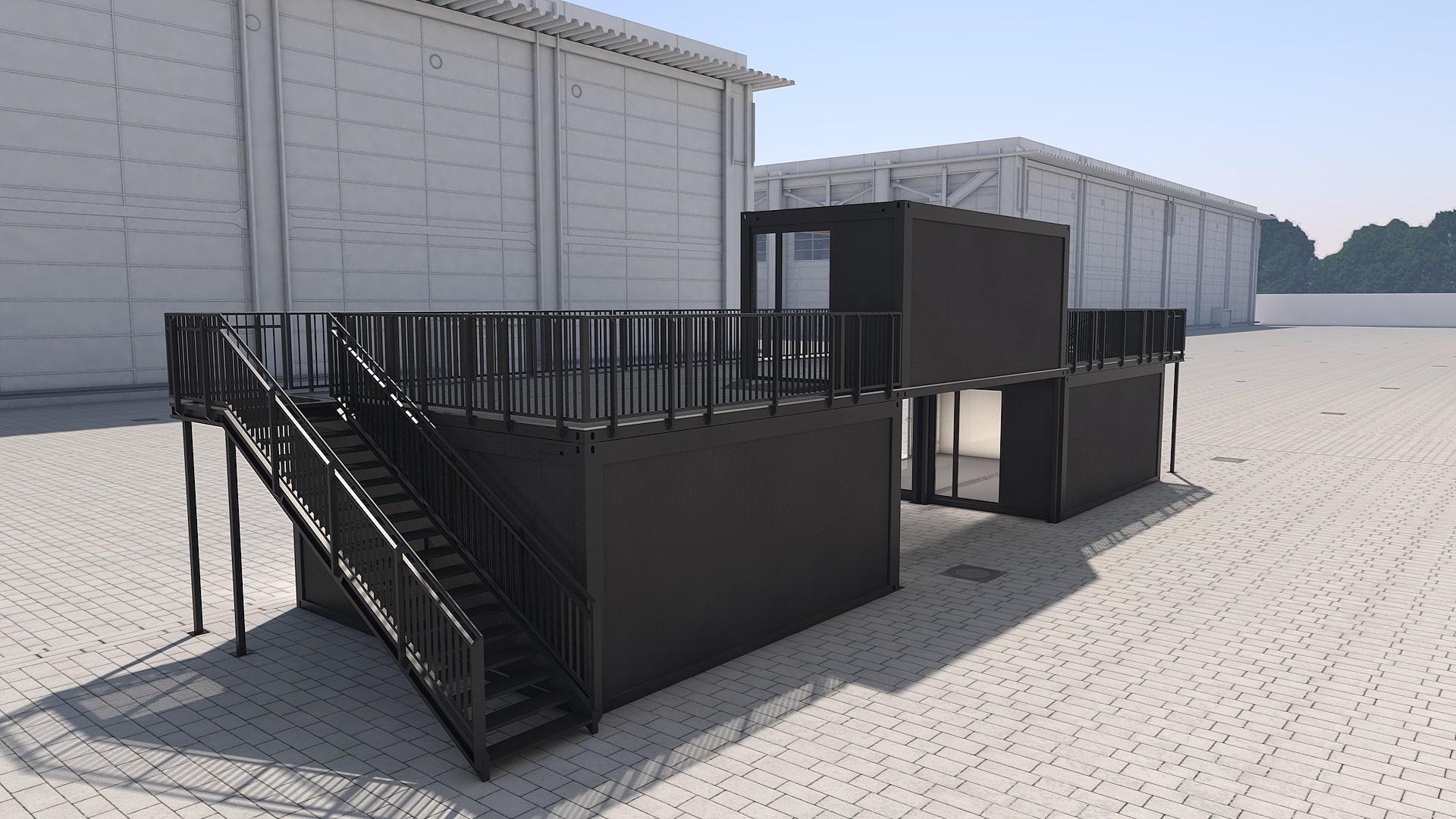 Container Modul M 26 - Ansicht 3