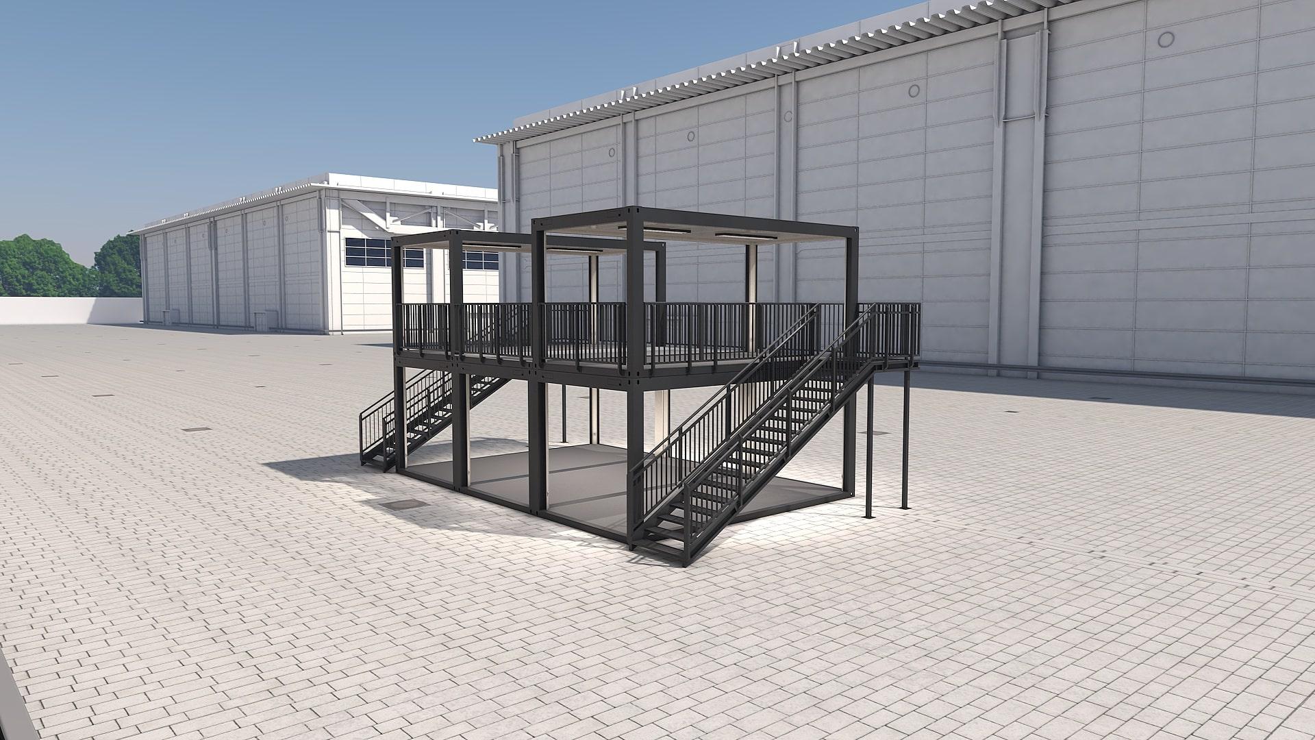 Container Modul M 27 - Ansicht 4