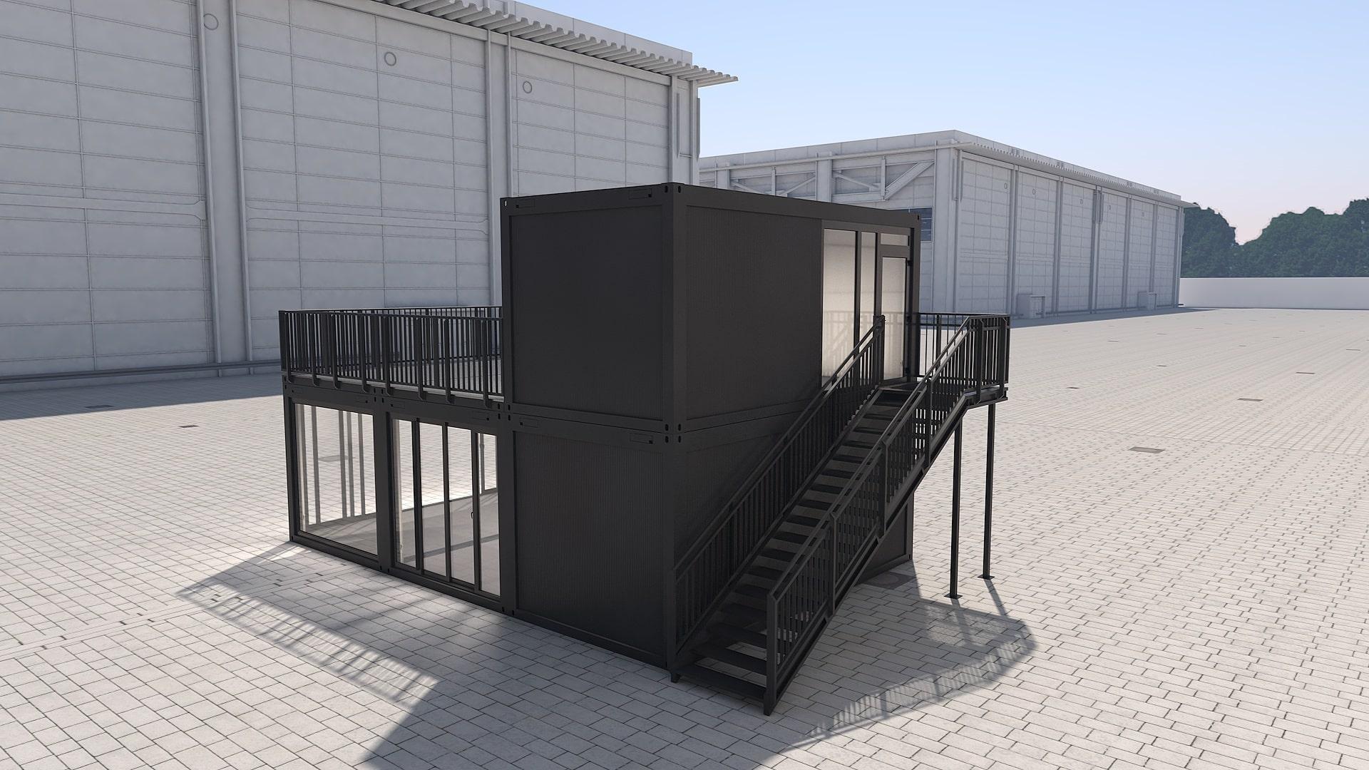 Container Modul M 32 - Ansicht 3